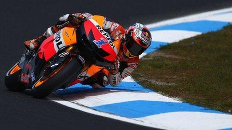 Casey Stoner kualifikasi MotoGP Australia
