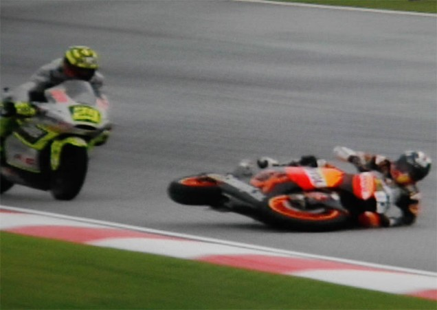 Marquez jatuh Sepang 2012
