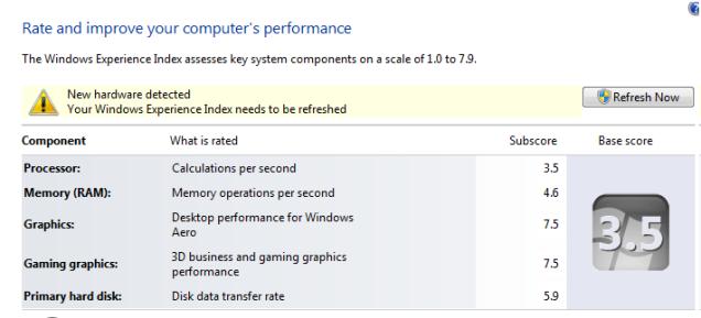Screenshoot Pentium 4 3GHz