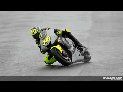 Valentino Rossi MotoGP Test Valencia