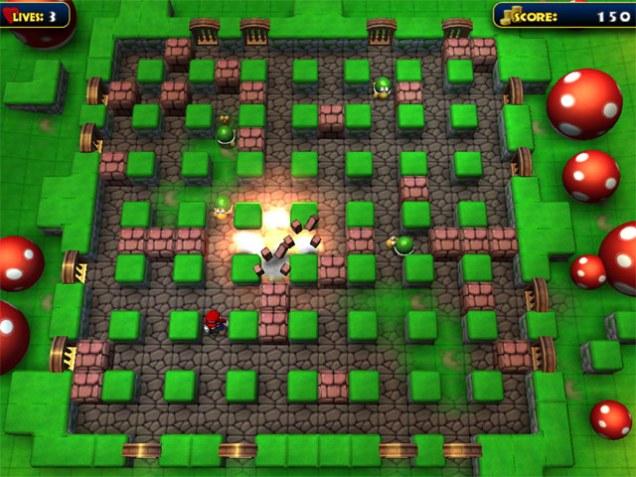 Tampilan Game Bomber Mario