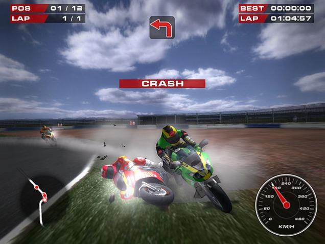 Tampilan Game Super Bikes-Crash