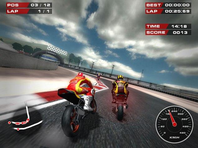 Tampilan Game Super Bikes