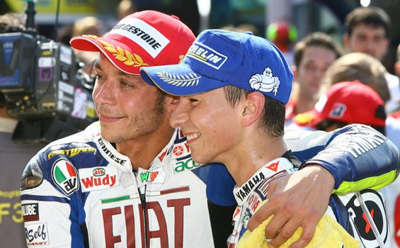 Valentino Rossi dan Jorge Lorenzo