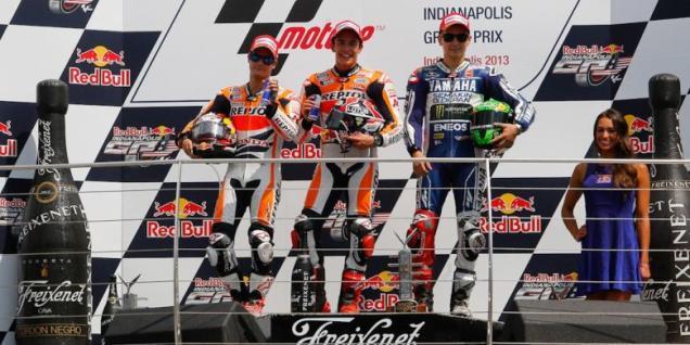 Podium-MotoGP Indianapolis