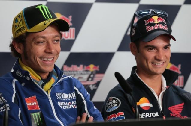 Rossi dan Pedrosa-Press Confrence Indianapolis 2013