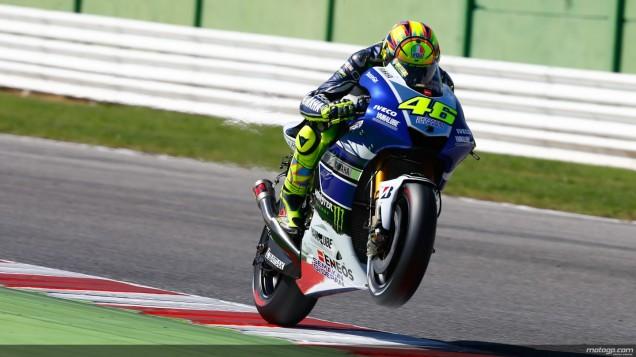Rossi-Masih sedikit wheelie