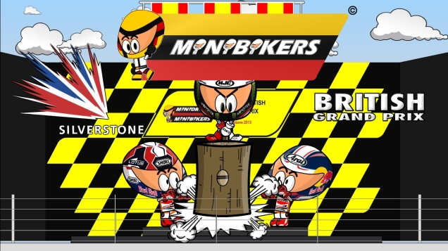 kartun MotoGP Silverstone 2013