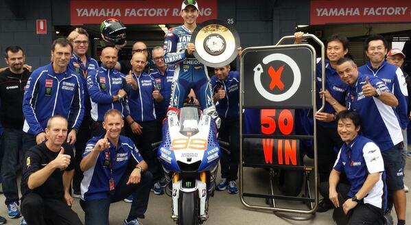 Kemenangan ke-50 di MotoGP