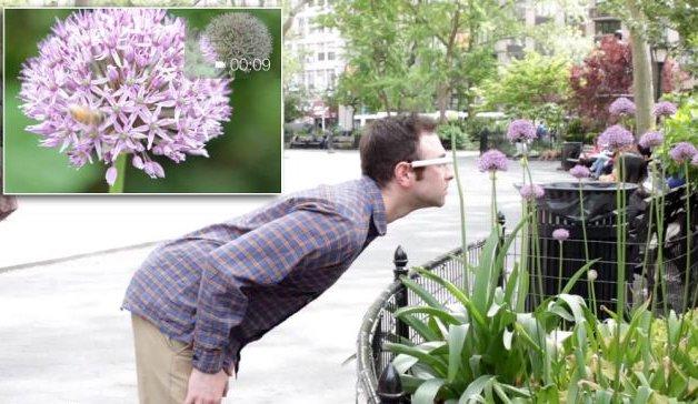 Memotret Bunga Dengan Google Glass