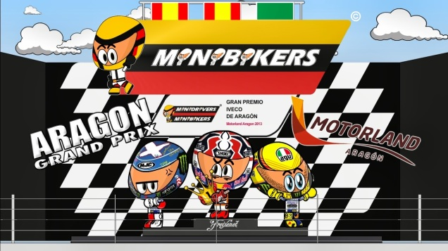 Video kartun MotoGP Aragon 2013