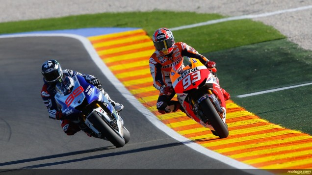 Marq Marquez dan Jorge Lorenzo-FP1 Valencia 2013