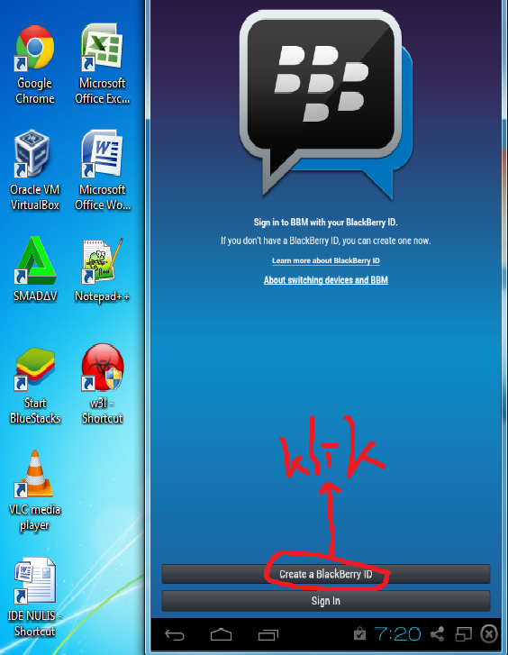 Create BlackBerry ID