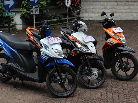 Honda Beat VS Yamaha Mio J Vs Suzuki Nex