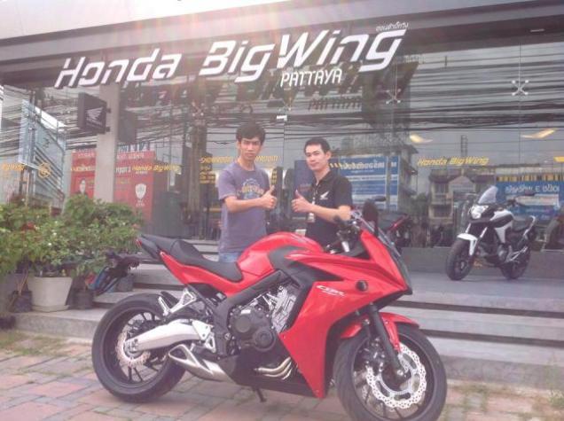 Honda CBR650F Merah