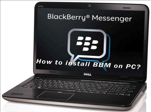 Install BBM di komputer atau laptop