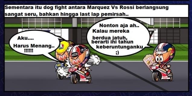 Scene4-Marquez Vs Rossi Battle