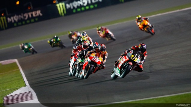 Stefan Bradl Ketika Memimpin Race MotoGP Qatar 2014
