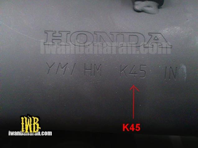 Tulisan Di Knalpot Honda CB150R Fairing