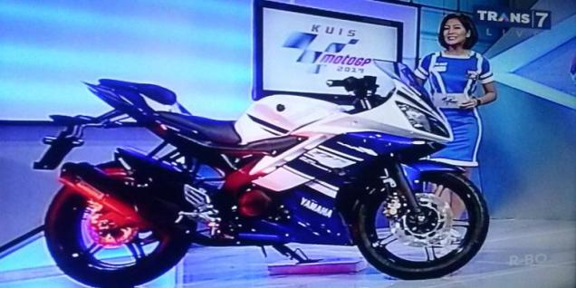 Yamaha R15 Indonesia-penampakkan di kuis MotoGP Trans7