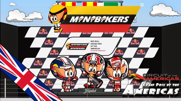 MotoGP Austin 2014-Versi Kartun