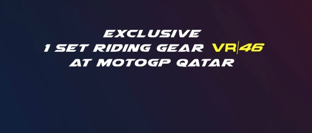 1 Set riding gear VR46 At MotoGP Qatar