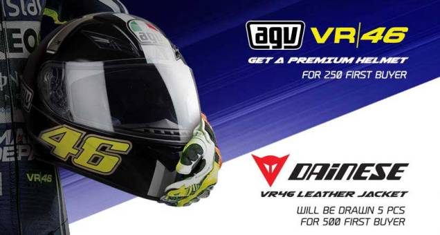 Bonus Helm Dan Jaket Valentino Rossi