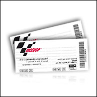 Hadiah mingguan-2 ticket grandstand MotoGP