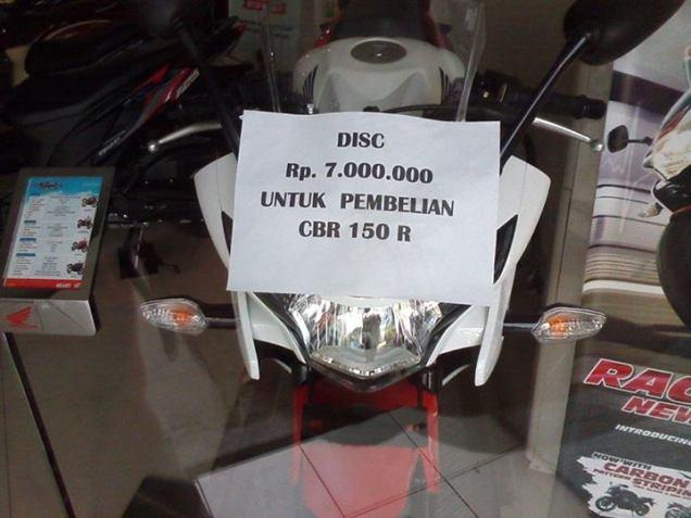 Honda CBR 150R Diskon 7 Juta