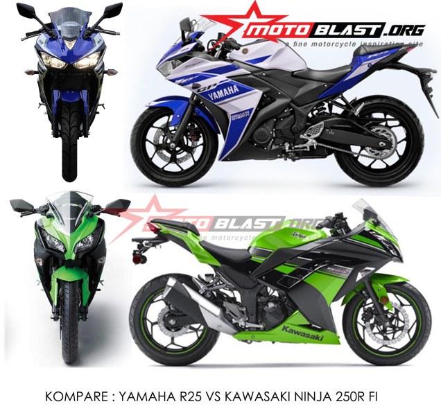 Kawasaki Ninja 250FI Vs Yamaha YZF-R25-MotoBlast