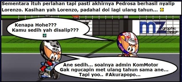 Lorenzo disalip Pedrosa.. :(
