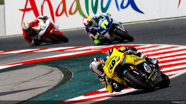 Maverick Vinales-Podium 2 Race Moto2 Catalunya 2014
