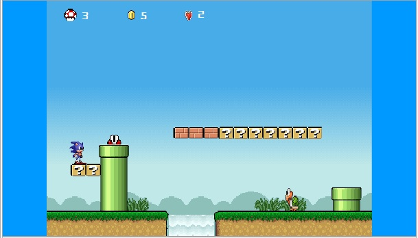 Sonic Lost In Mario Worlds
