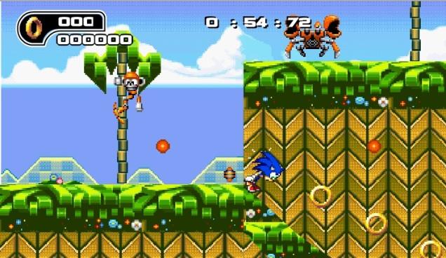 Tampilan Game Sonic Layar Besar