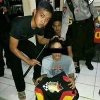 Pelaku Geng Motor Cirebon Yang Tertangkap