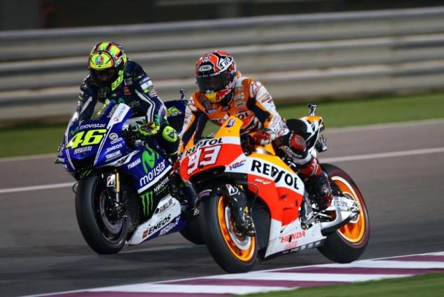 Rossi Vs Marquez-Qatar 2014
