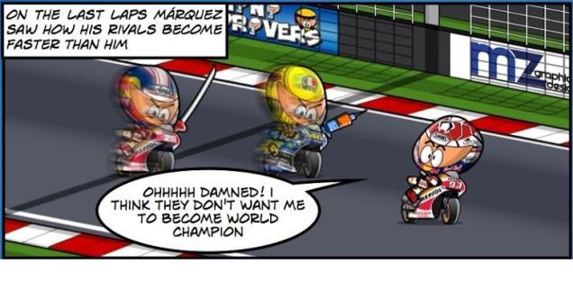 Rossi dan Pedrosa memburu Marquez :mrgreen: