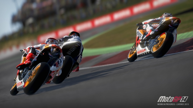 Tampilan Game MotoGP14