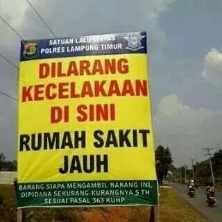 Dilarang Kecelakaan