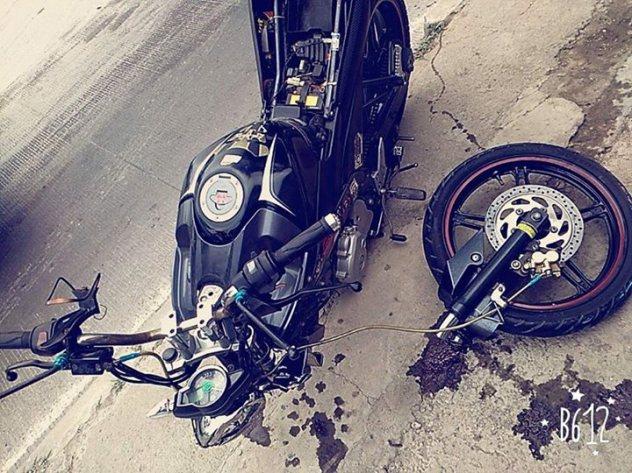 Yamaha NVL Sampe Patah Shock Depan,,, :(