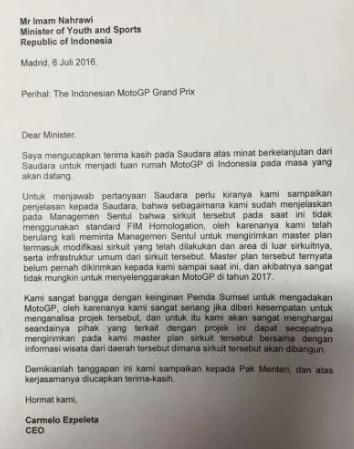 Surat dari CEO DORNA
